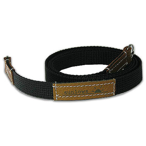 """Sunlows Poly Camera Strap with Ring (45.3"""", Brown Ends)"""