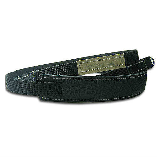 """Sunlows Leather Padded Poly Camera Strap with Ring & Lug Protector (45.3"""", Black Ends)"""