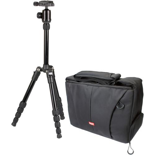 Sunpak TravelLite 50 Reverse-Folding Tripod with TravelSmart System Bag Kit