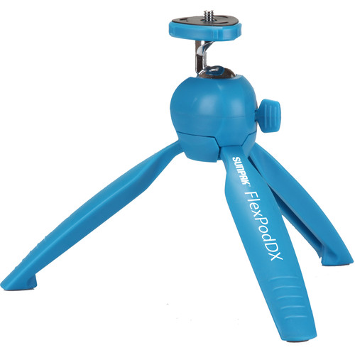 Sunpak FlexPodDX Tabletop Tripod with GoPro and Smartphone Adapters (Blue)