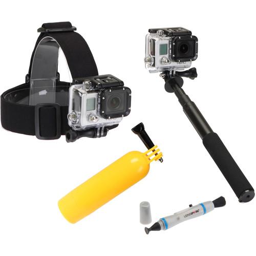 Sunpak Platinum Plus Action Camera 4-Part Accessory Kit
