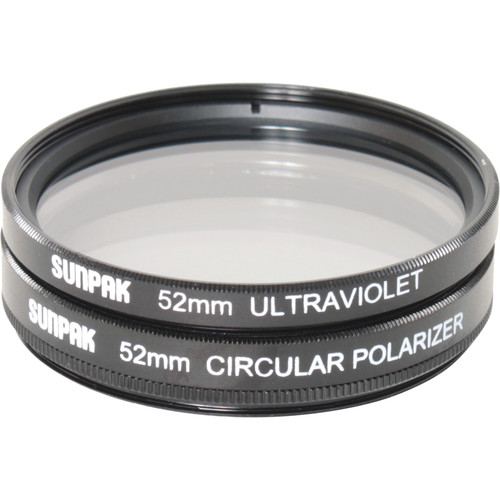 Sunpak 52mm UV and Circular Polarizer Filter Kit