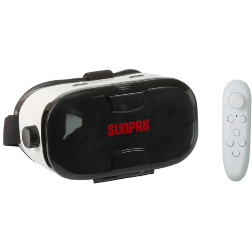 Sunpak VRV-15 Virtual Reality Viewer Smartphone Headset with Deluxe Controller