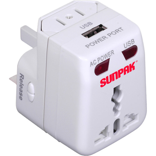 Sunpak Universal Power Adapter (White)