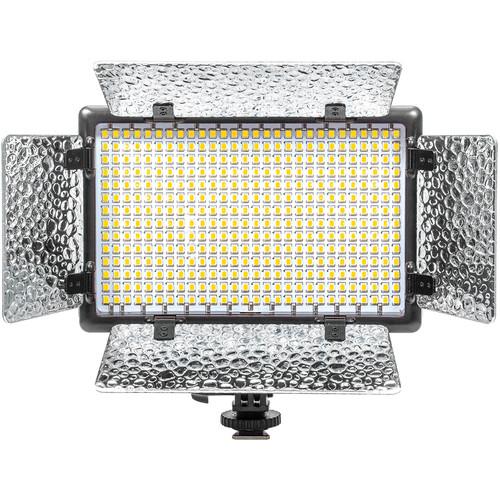 Sunpak LED 392 Slim On-Camera Bicolor Video Light Kit with Barndoor Set