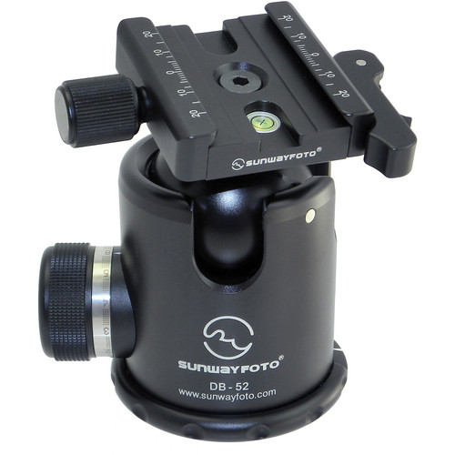 Sunwayfoto DB-52DL Ballhead with DLC-60 Lever / Screw Clamp Combo