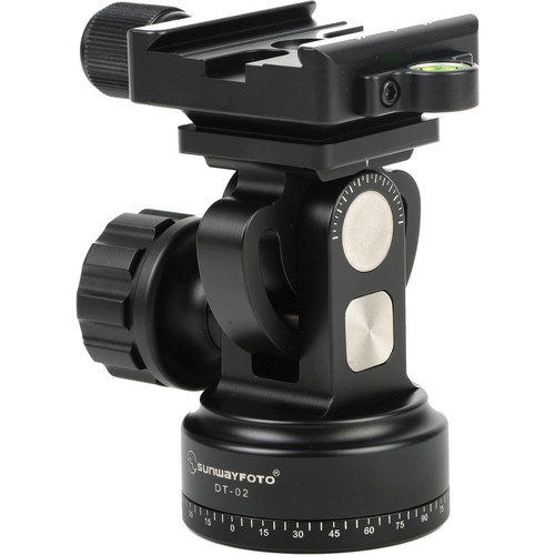 Sunwayfoto DT-02D50 Tilt Head with Panning Base and Quick-Release Clamp