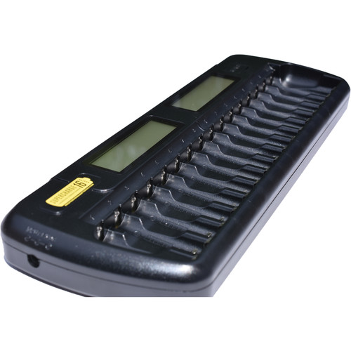 Supercharge 16 16-Bay AA and AAA NiMH/NiCd Battery Charger and Conditioner