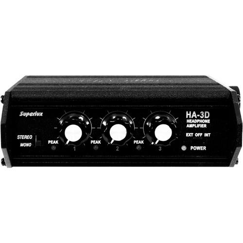 Superlux HA3D 3-Channel Portable Headphone Amplifier