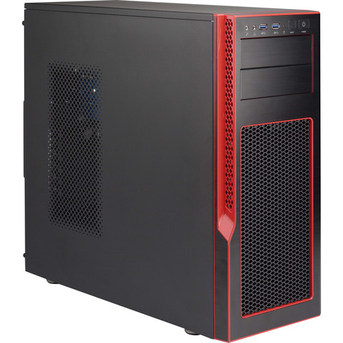 Supermicro S5 Special Edition Mid Tower Gaming Case (Black,Red)