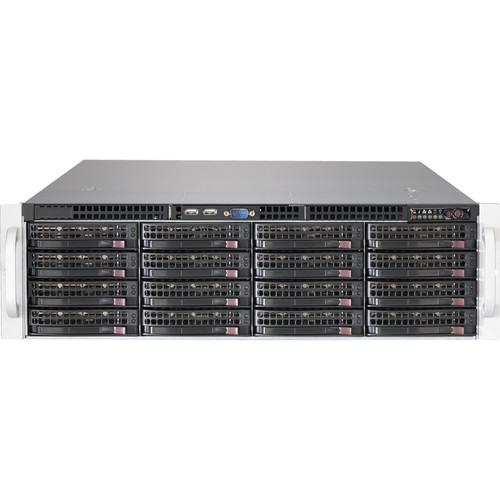 Supermicro SuperStorage 6038R-E1CR16L 3U Rackmount Server (Black)
