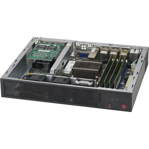 Supermicro E300-8D SuperServer with Intel Xeon Processor D-1518 (Black)