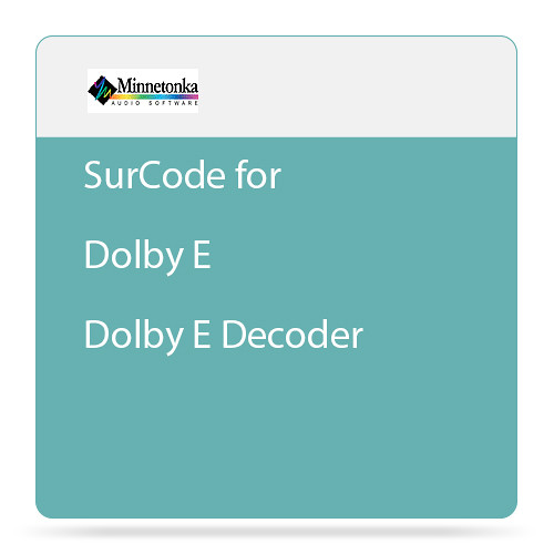 Minnetonka Audio SurCode for Dolby E - Dolby E Decoder Plug-In (Download)