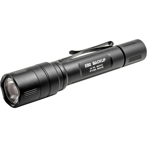 SureFire EB2-T Backup Dual-Output LED Flashlight (Tactical Tailcap Switch, Black)