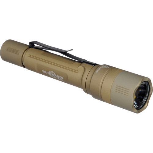 SureFire EB2-T Backup Dual-Output LED Flashlight (Tactical Tailcap Switch, Tan)