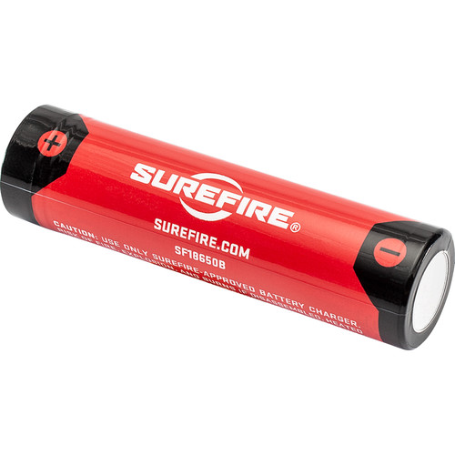 SureFire 18650 Li-Ion Rechargeable Battery with Charging Port (3.6V, 3500mAh)