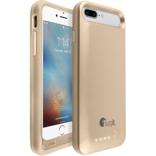 Surgit Battery Case for iPhone 7/8 (Gold)