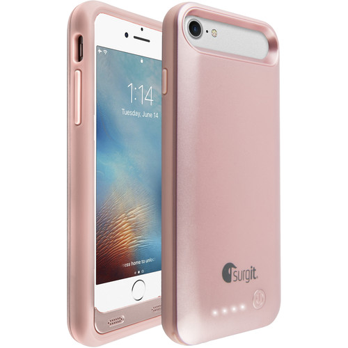 Surgit Battery Case for iPhone 7 (Rose Gold)