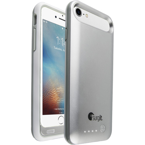 Surgit Battery Case for iPhone 7/8 (Silver)