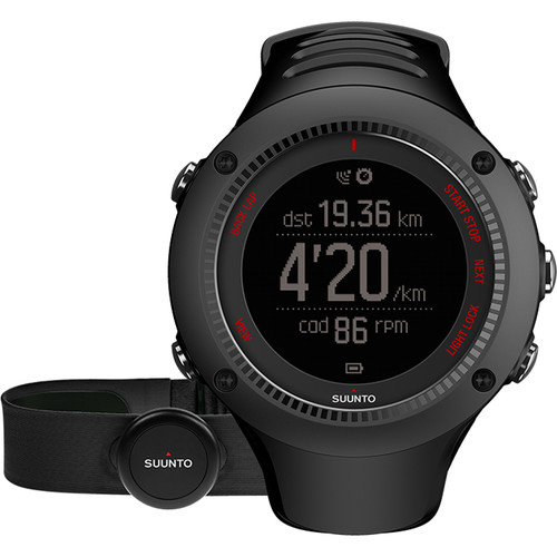 SUUNTO Ambit3 Run Sport Watch with Smart Sensor Heart Rate Monitor (Black)