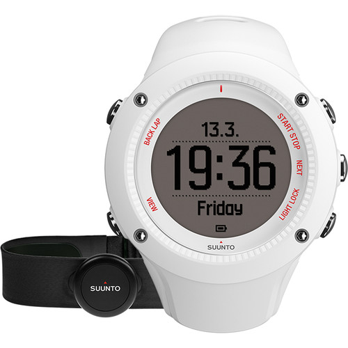 SUUNTO Ambit3 Run Sport Watch with Smart Sensor Heart Rate Monitor (White)