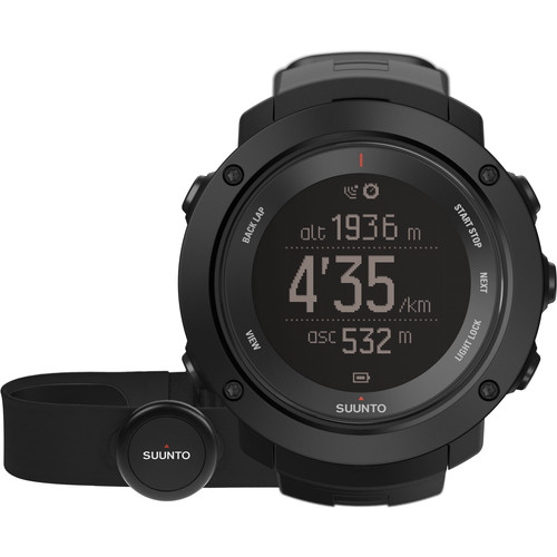 SUUNTO Ambit3 Vertical Sport Watch with Smart Sensor Heart Rate Monitor (Black)