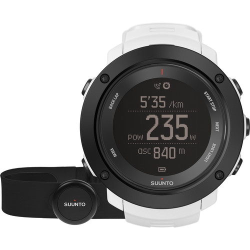 SUUNTO Ambit3 Vertical Sport Watch with Smart Sensor Heart Rate Monitor (White)