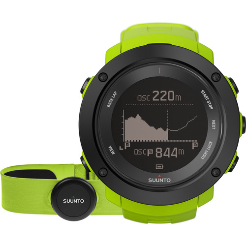 SUUNTO Ambit3 Vertical Sport Watch with Smart Sensor Heart Rate Monitor (Lime)