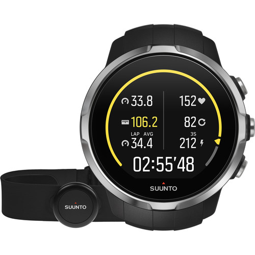 SUUNTO Spartan Sport Watch with Smart Sensor Heart Rate Monitor (Black)