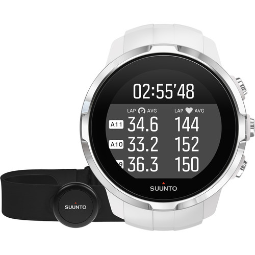 SUUNTO Spartan Sport Watch with Smart Sensor Heart Rate Monitor (White)