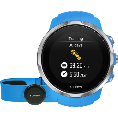 SUUNTO Spartan Sport Watch with Smart Sensor Heart Rate Monitor (Blue)
