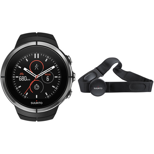 SUUNTO Spartan Ultra Sport Watch with Smart Sensor Heart Rate Monitor (Black)