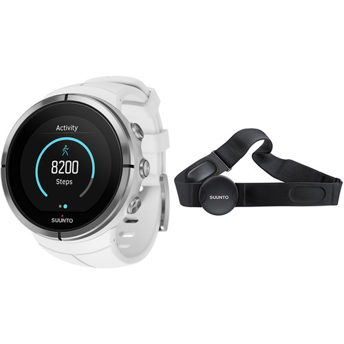 SUUNTO Spartan Ultra Sport Watch with Smart Sensor Heart Rate Monitor (White)