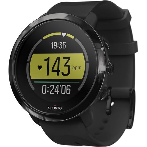 SUUNTO 3 Fitness Sports/Training Watch (All Black)