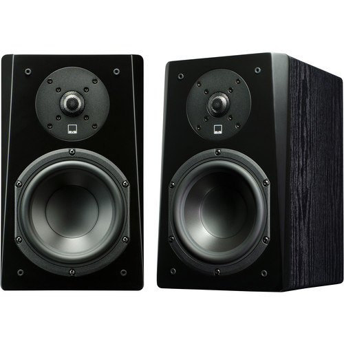 SVS Prime 2-Way Bookshelf Speakers (Black Ash, Pair)