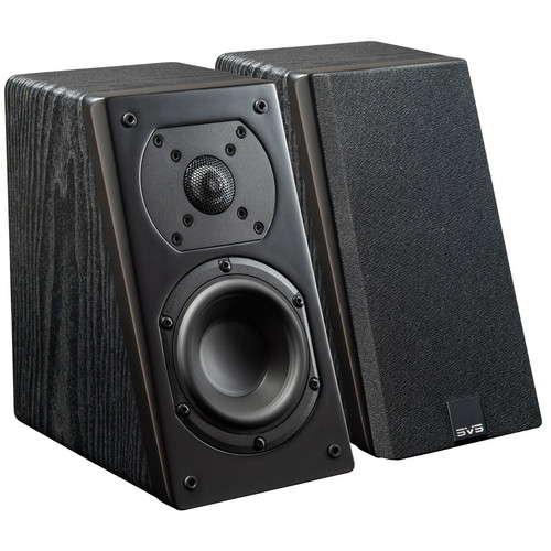 """SVS 2-Way Elevation Speaker with 1"""" Aluminum Dome Tweeter and 4.5"""" Woofer (Black Ash, 2 Pack)"""
