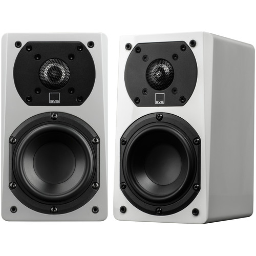 "SVS 2-Way Satellite Speaker with 1"" Aluminum Dome Tweeter and 4.5"" Woofer (White Gloss, 2 Pack)"