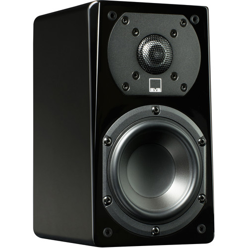 SVS Prime Satellite 2-Way Bookshelf Speakers (Piano Gloss Black, 3-Pack)