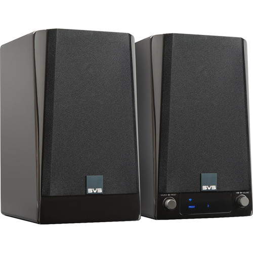 SVS Prime Wireless Speaker System (Piano Gloss Black, Stereo Pair)