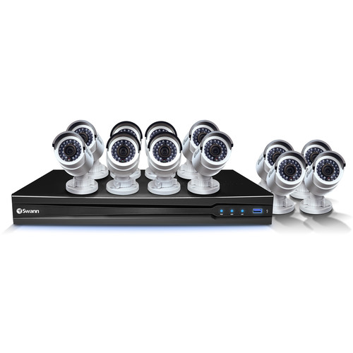 Swann 16-Channel 3MP NVR with 3TB HDD and 12 3MP Bullet Cameras Kit