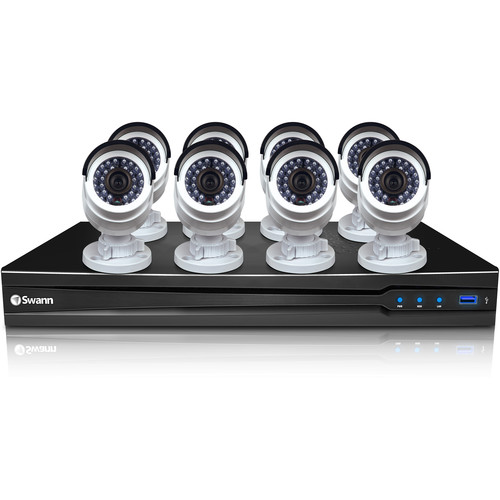 Swann 16-Channel 3MP NVR with 3TB HDD and 8 3MP Bullet Cameras