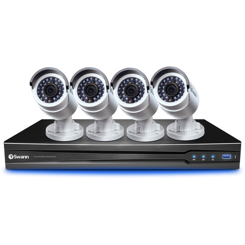 Swann 8-Channel 3MP NVR with 2TB HDD and 4 3MP Bullet Cameras