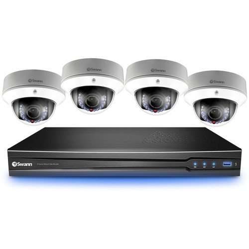 Swann 8-Channel 3MP NVR with 2TB HDD and 4 3MP Dome Cameras