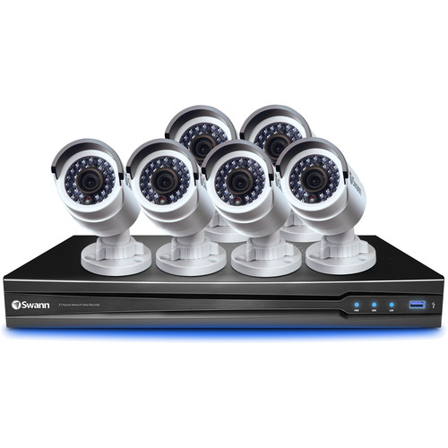 Swann 8-Channel 3MP NVR with 2TB HDD and 6 3MP Bullet Cameras