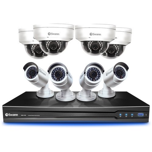 Swann 8-Channel 3MP NVR with 2TB HDD and 4 3MP Bullet Cameras and 4 3MP Dome Cameras