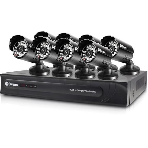 Swann DVR16-3250 16-Ch DVR with 8 PRO-615 Cameras 650 TVL Bundle (500 GB HDD)