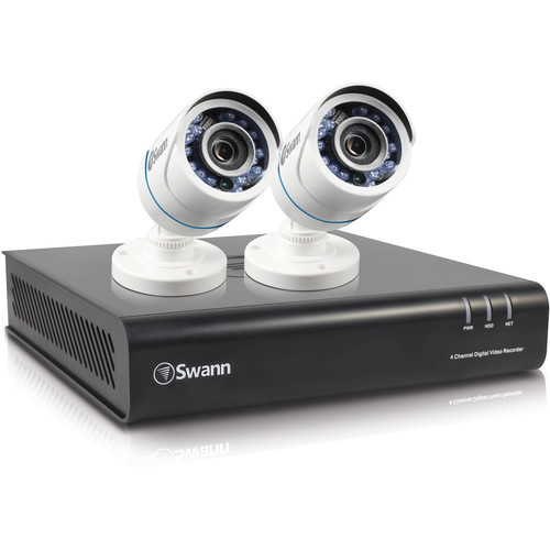 Swann SWDVK-445002 4-Channel 1080p DVR with 500GB HDD and 2 1080p Outdoor Bullet Cameras