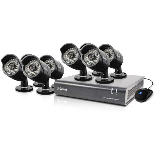 Swann 8-Channel 720p DVR with 1TB HDD and 8 720p Outdoor Bullet Cameras