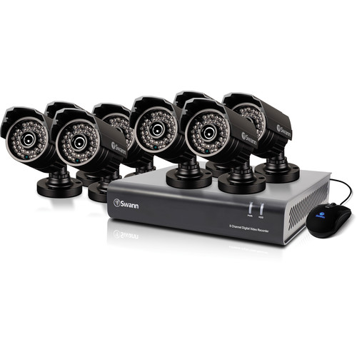 Swann DVR8-4400 8-Ch DVR with Eight 720 TVL PRO-735 Cameras (1 TB)