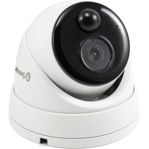 Swann SWNHD-866MSD-US 5MP Outdoor Network Dome Camera with Night Vision & Audio (White)